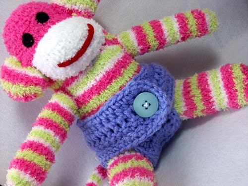 Diaper for your sock monkey