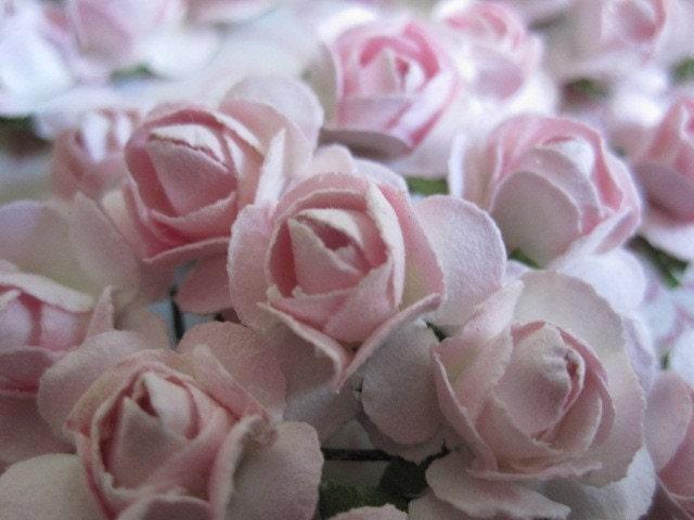 36 Whisper Розовые цветы - мини стеблей