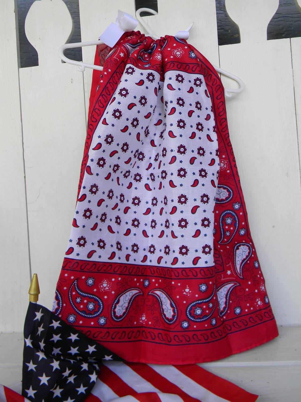 Handkerchief Dress Pretty and Patriotic SALE