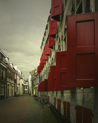 Red Shutters - 11x14 Fine Art Print - OhDierLiving
