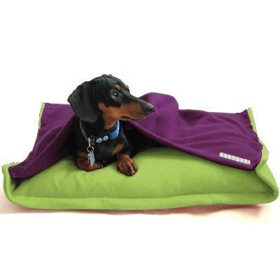 Etsy :: anniessweatshop :: Pet Bed - Eco Friendly Fleece - Lime Purple