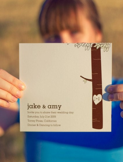 Jake and Amy Wedding Invitation