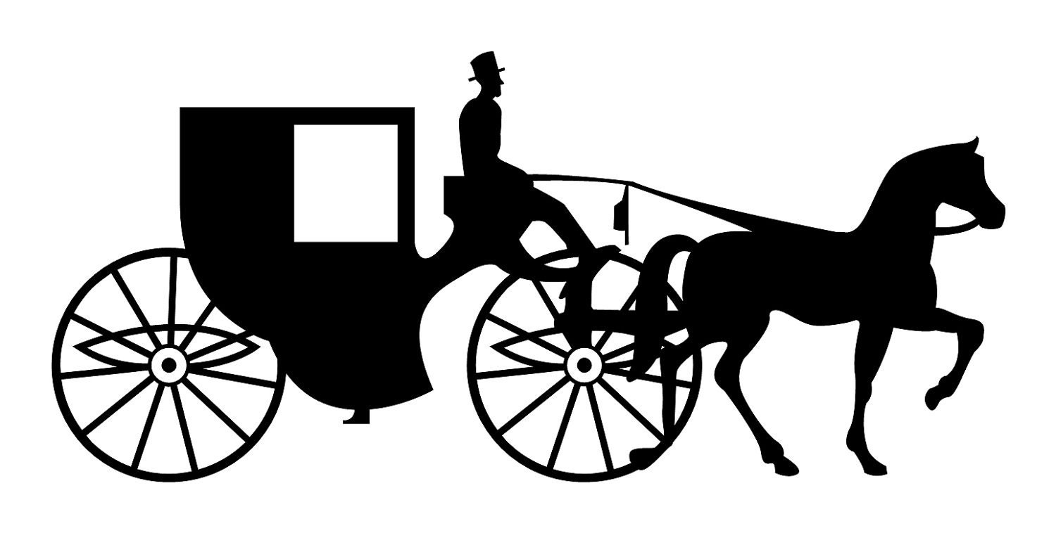 Custom Listing: Two Right-Facing Horse & Carriage by ...