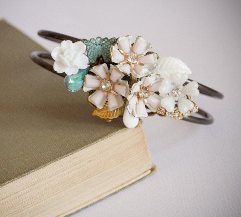 Sweet Butterfly Vintage Collage Bracelet
