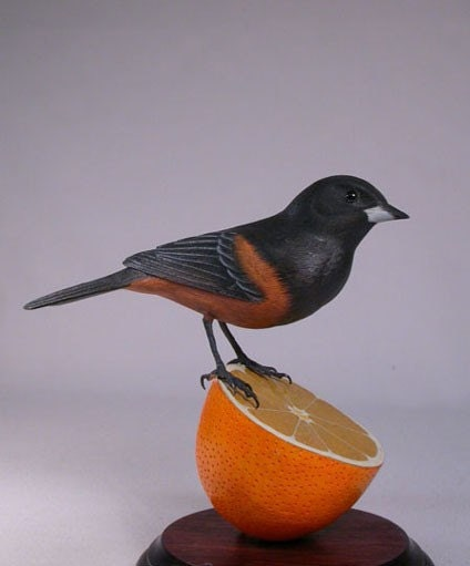 Orchard Oriole Wooden carved Bird