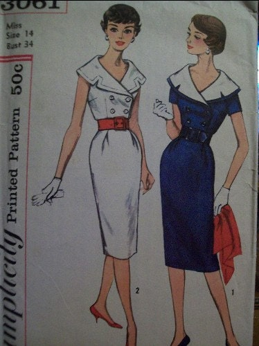 Simplicity 3061 Vintage Dress Pattern Size 14