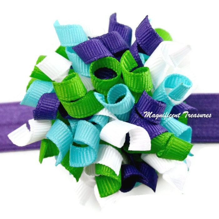 Purple Baby Korker Bow and Soft Headband - Magnificence