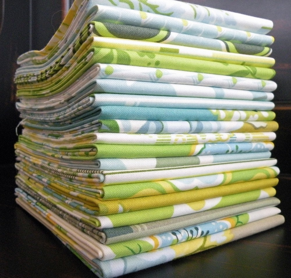 Nicey Jane by Heather Bailey for Free Spirit, Set of 20 Fat Quarters--Porch Swing Colorway