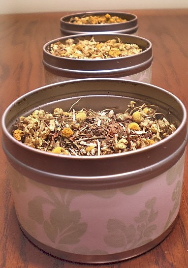 Loose leaf Herbal Tea 15-30 cups, chamomile, st. johns wort, peppermint leaf, valerian root