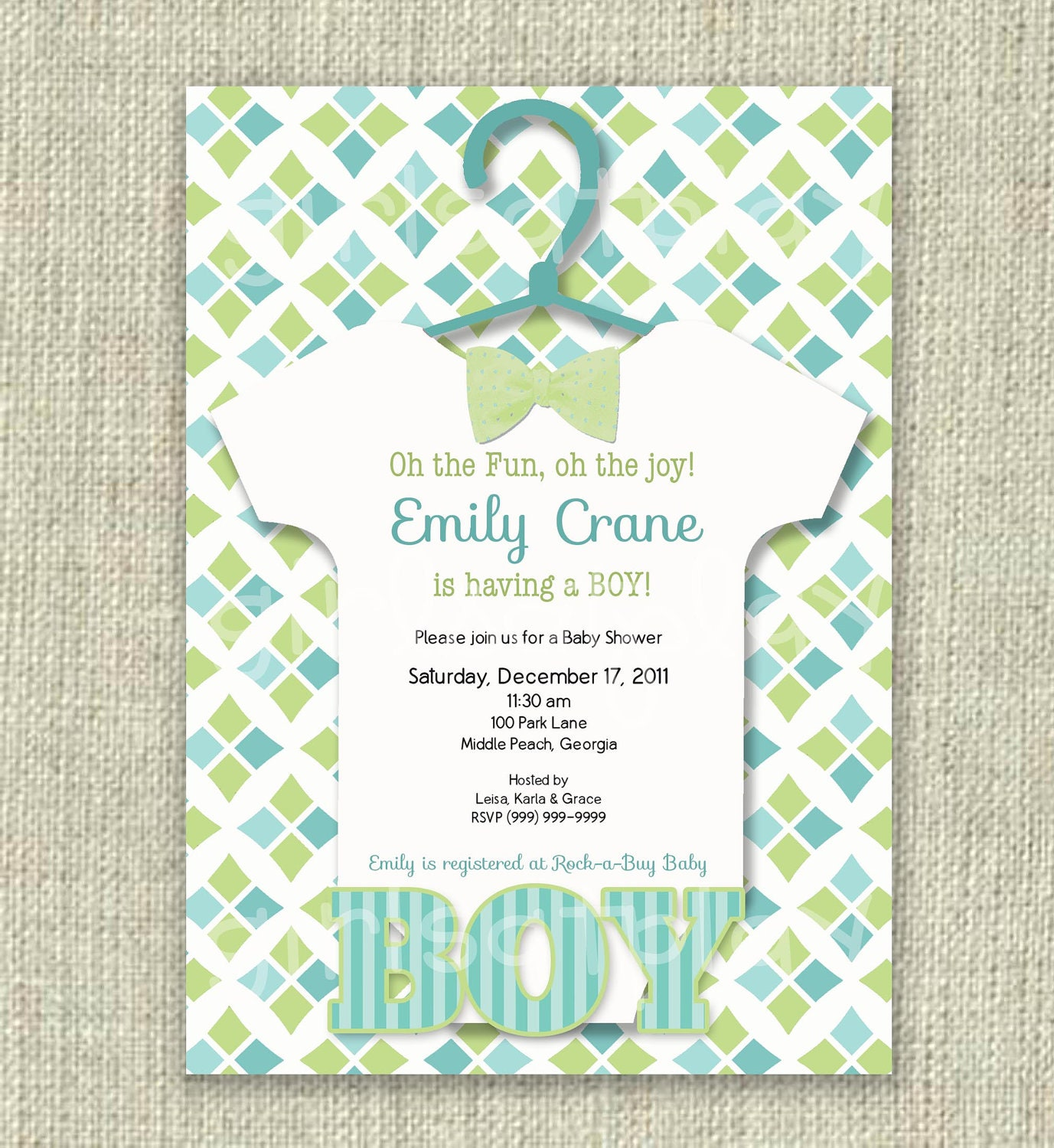 Baby Shower Invitations Bow Tie was good invitations sample