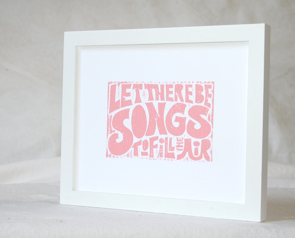 Hippie Baby Nursery Grateful Dead Ripple  Let there be Songs to Fill the Air Rock Posters - RawArtLetterpress