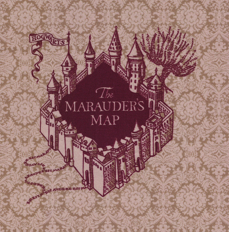 New The Marauders Map Harry Potter Fabric Print