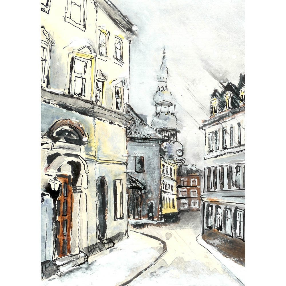 Street in Riga - 5 x 7