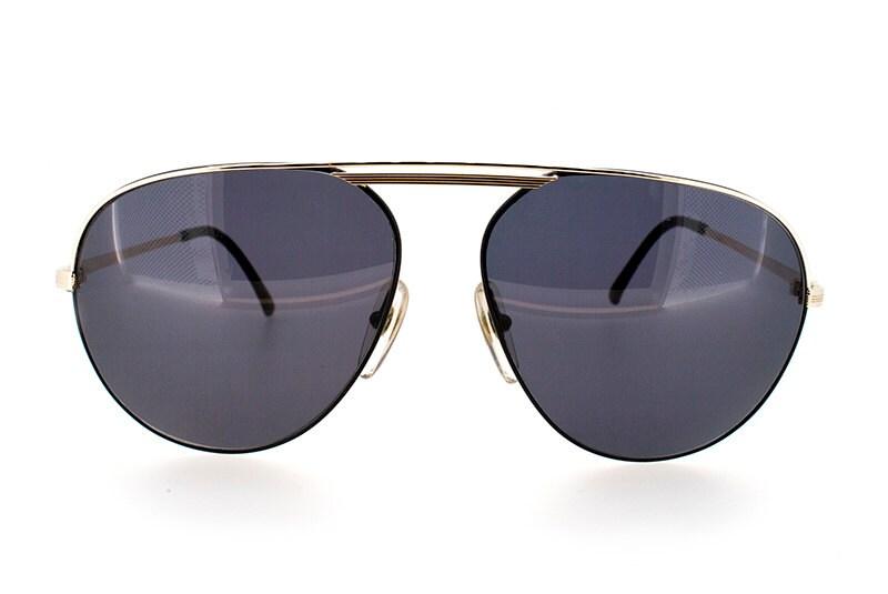 Genuine 1980s Christian Dior Black Frame Aviator Vintage Sunglasses  New Old Stock  Model number 253649