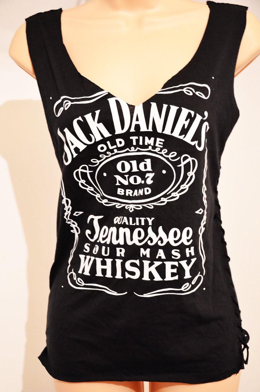 Womens Black V Neck T Shirt