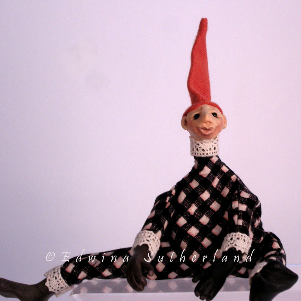 Sculpture Polymer clay figure OOAK by Edwina Sutherland