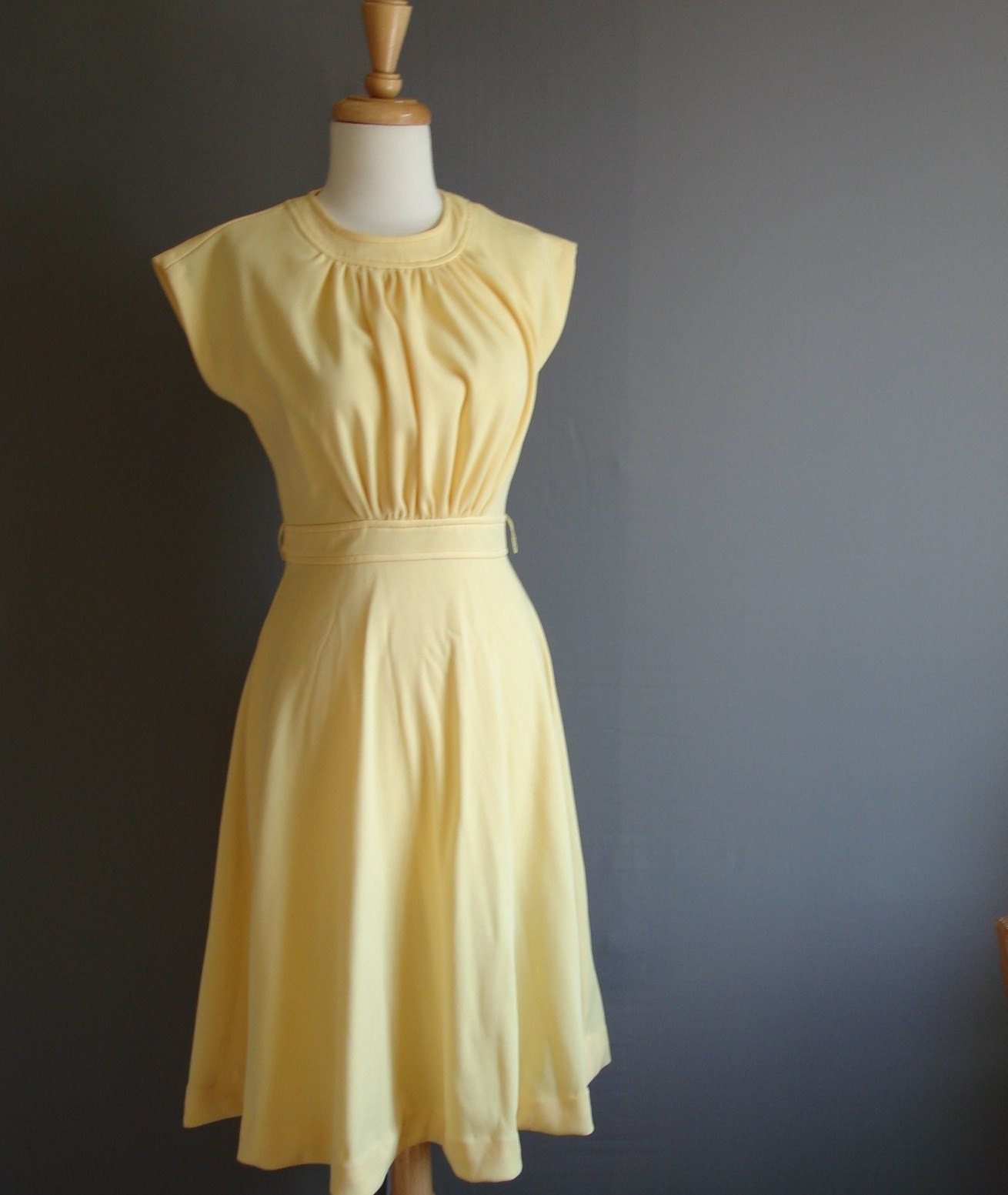 RESERVED-Vintage 50s/60s YOU ARE MY SUNSHINE Marigold Day Dress