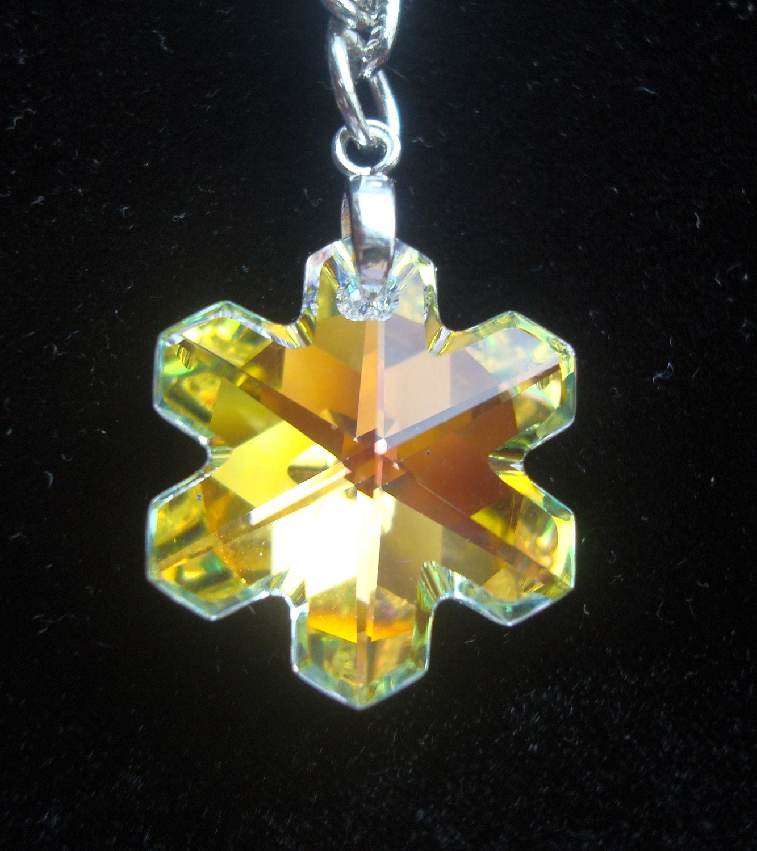 Necklace Pendant  Swarovski Crystal AB crystal snowflake