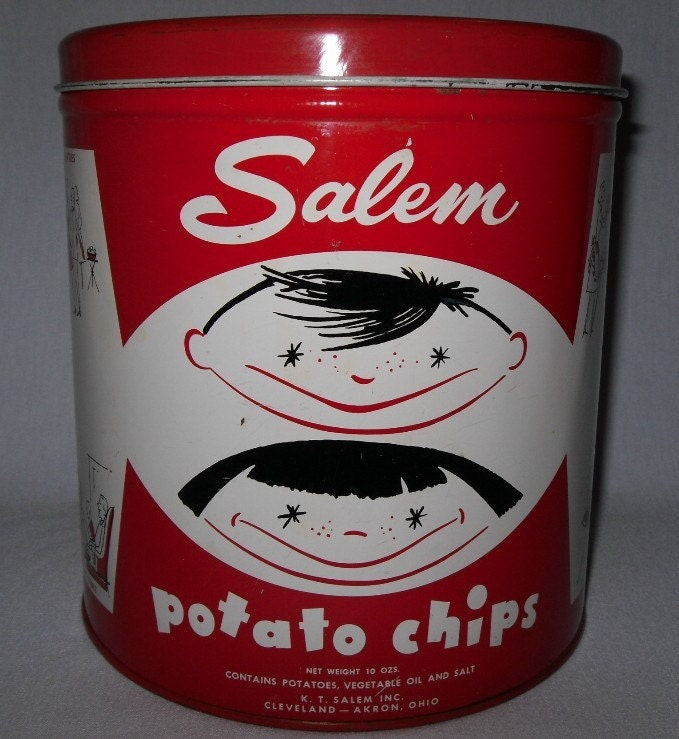 Vintage Decoware Potato Chip Canister By Thegoodgranny On Etsy
