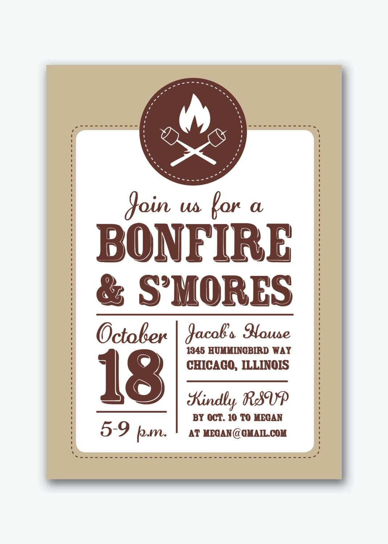 Bonfire Party Invites as adorable invitation design