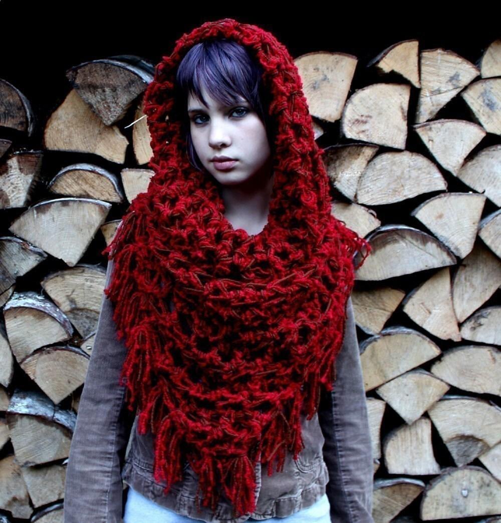 راهب گردن حاشیه روسری شال سرخ رهایی هود گرمتر