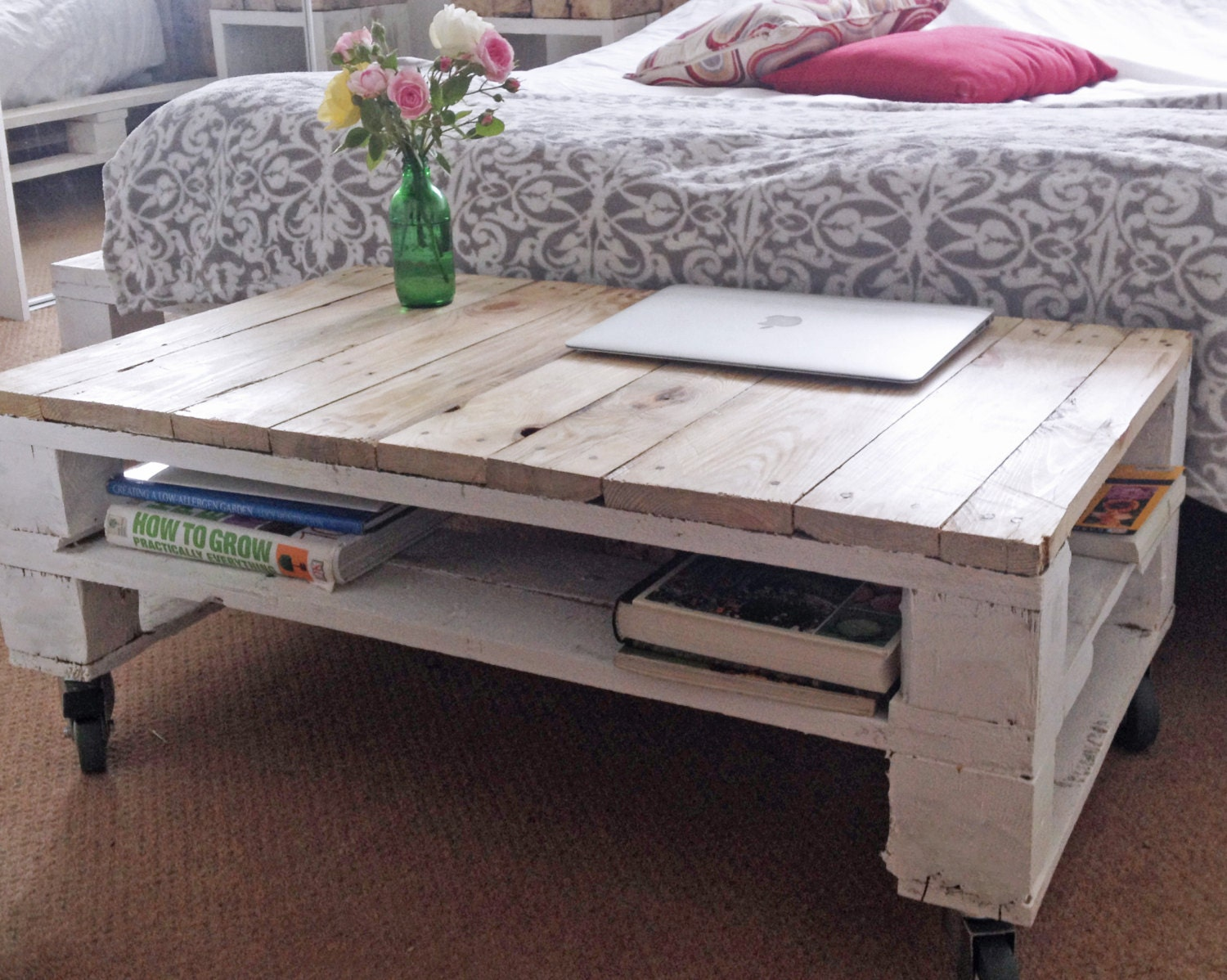 Reclaimed Timber TV Stand Console Table TELEALUS in Farmhouse Style