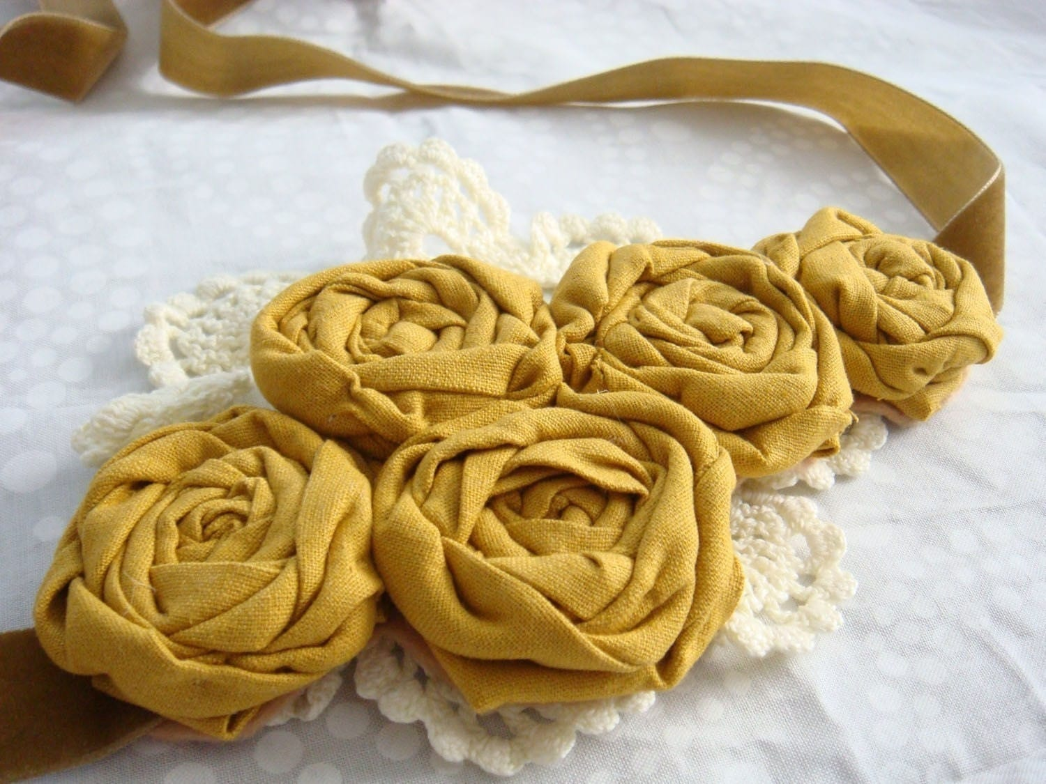 Sunshine Yellow Corsage Sash