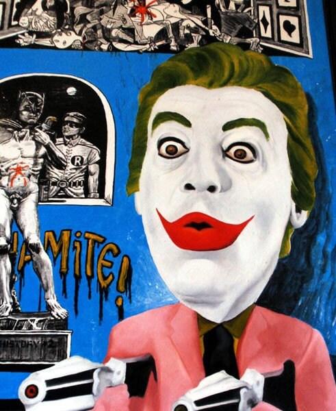 Flop Goes the Joker 20 x 31 Original Oil Painting by Dark Vomit and David Russell Talbott