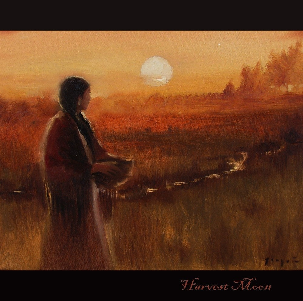 Harvest Moon Original 11x14 Oil on Canvas