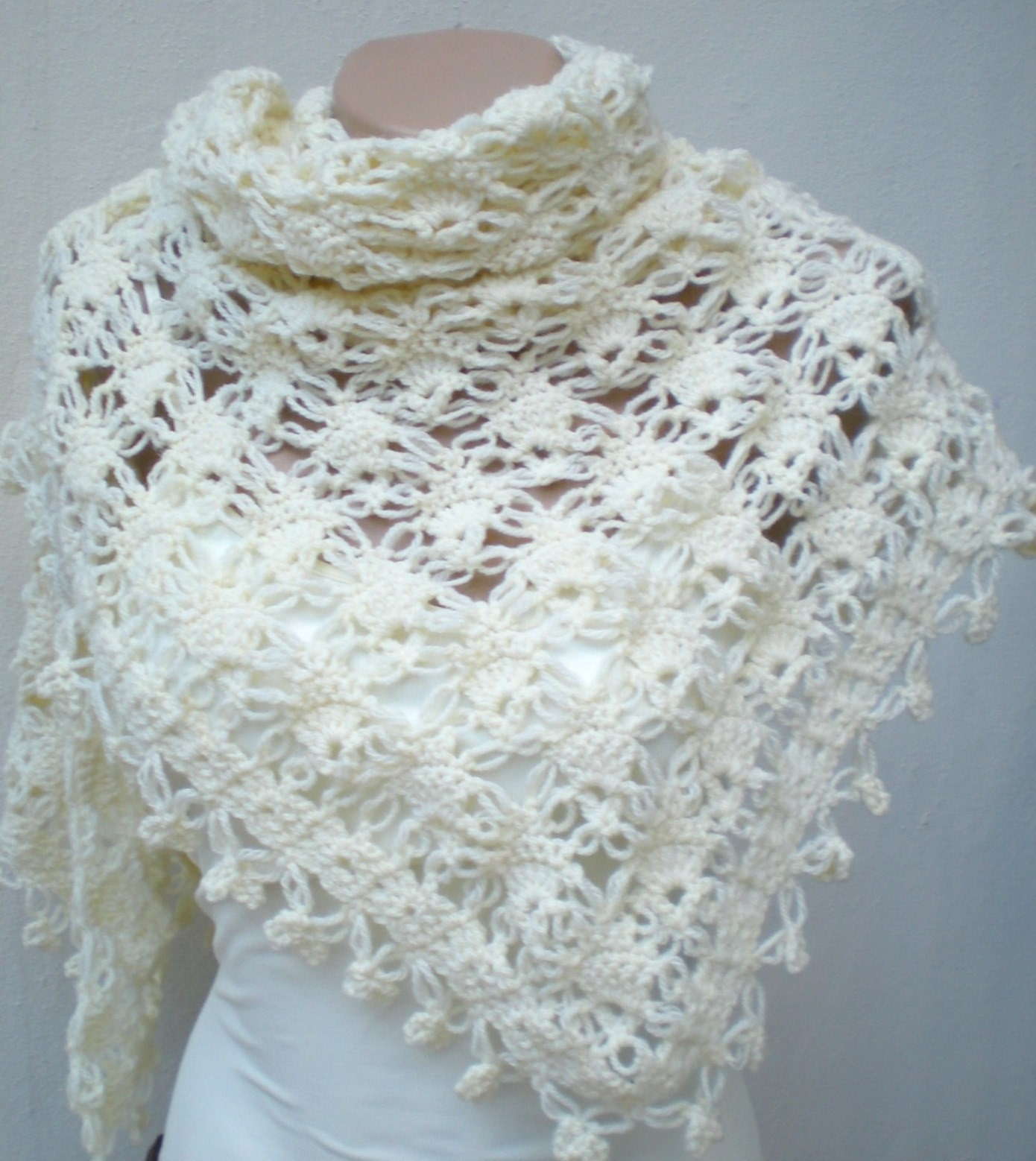 Crochet Patterns For Shawls : Crochet Pattern Shawl Thread Free Patterns For Crochet