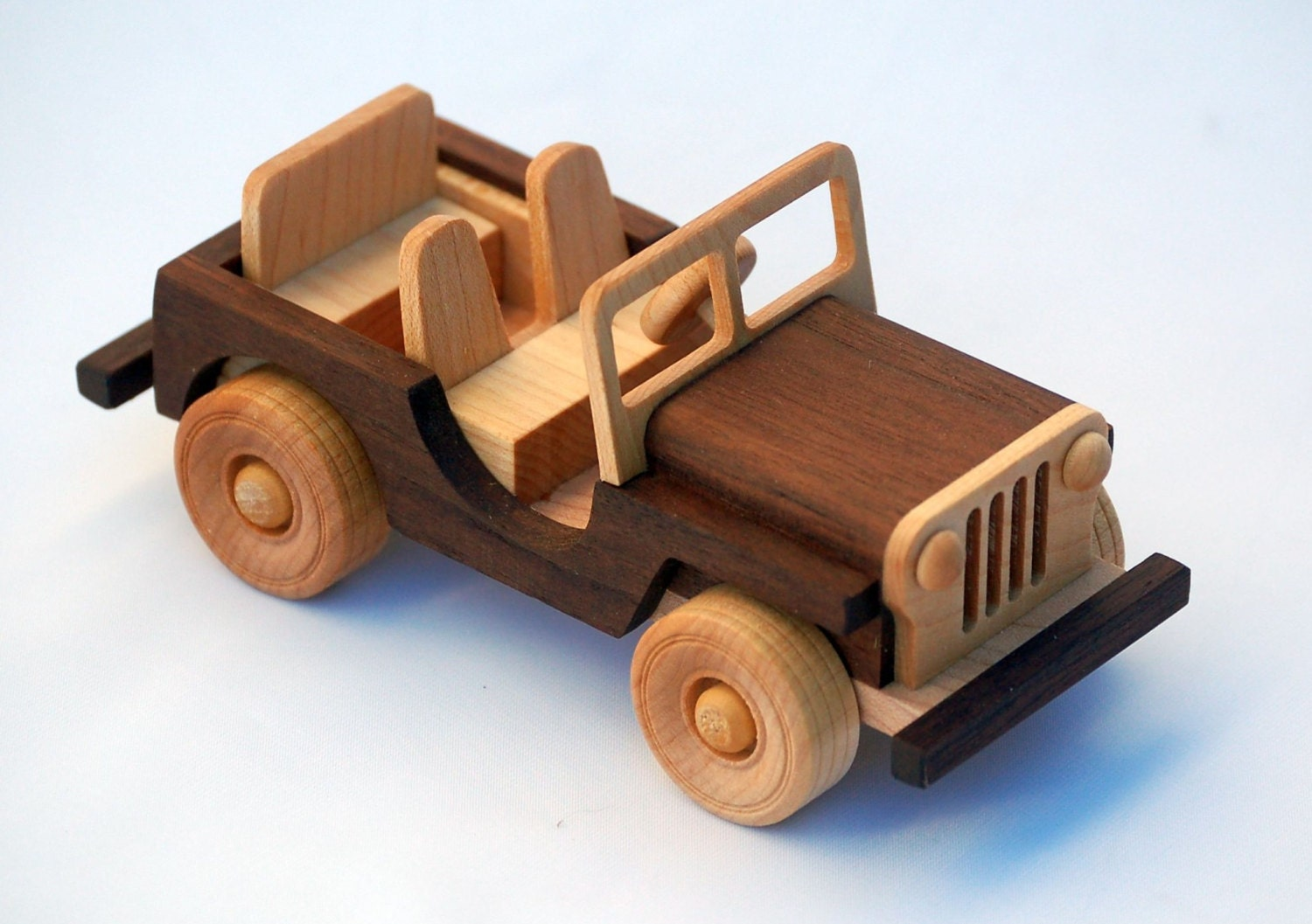 wooden toy truck off road vehicle classic by woodentoystudio. Black Bedroom Furniture Sets. Home Design Ideas