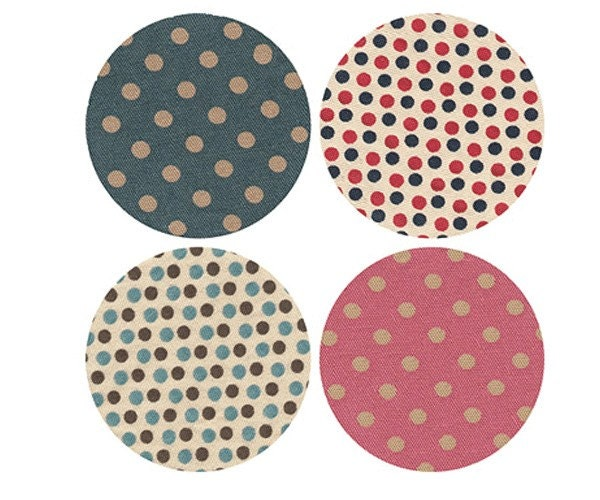 dot pattern fabric sticker