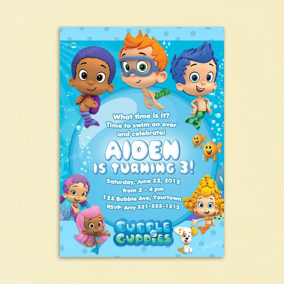 Bubble Guppies Invitations Templates is great invitation design