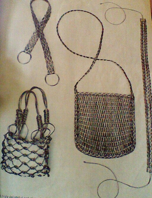 items similar to vintage macrame bags and belts patterns