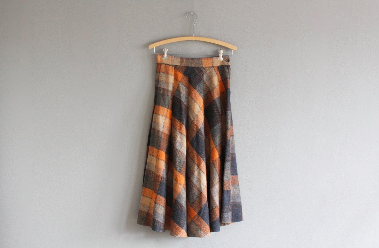 pumpkin plaid skirt - thepreppyhandbook