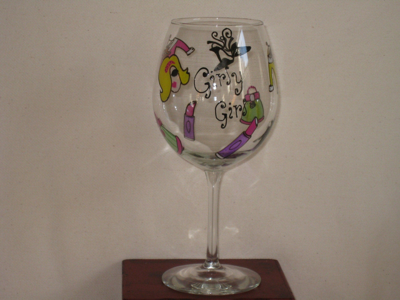 girly girl wine glasses