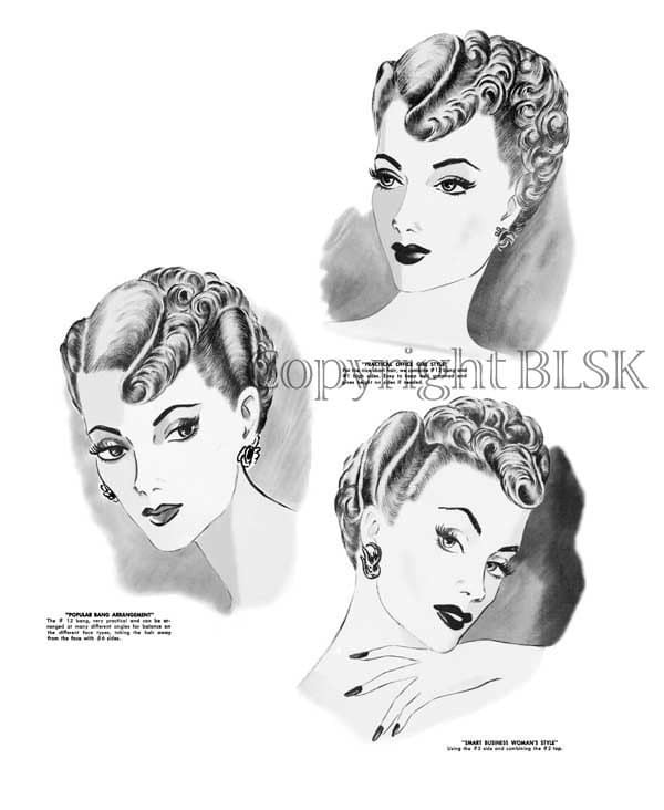 1950 hairstyle pictures. 1950s Hairstyle 50s Glam Hair How to