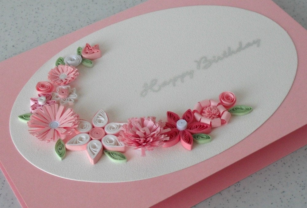 Christmas cards handmade paper all ideas about christmas and handmade birthday greeting card paper quilled by paperdaisycards bookmarktalkfo Choice Image