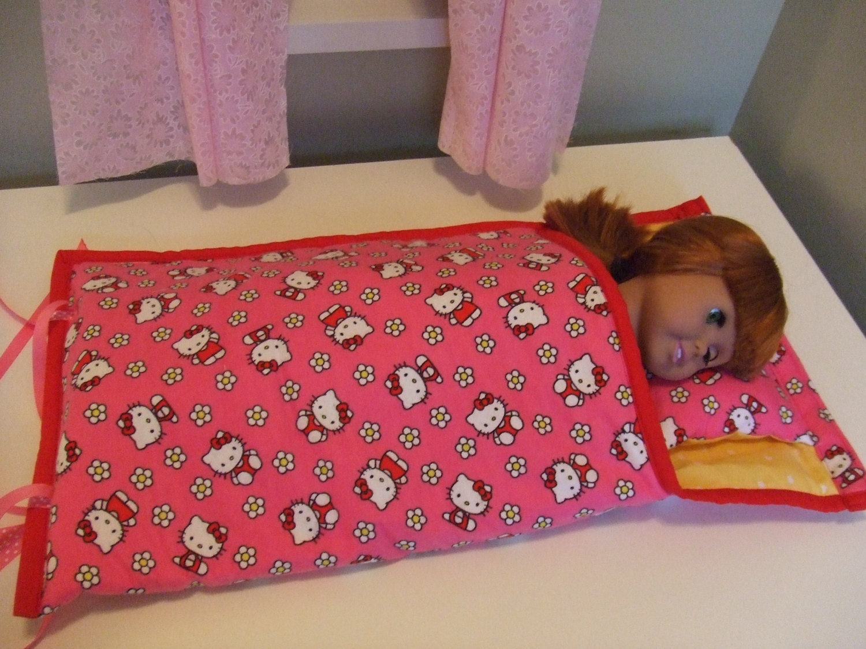 items similar to american doll bedding sleeping bag