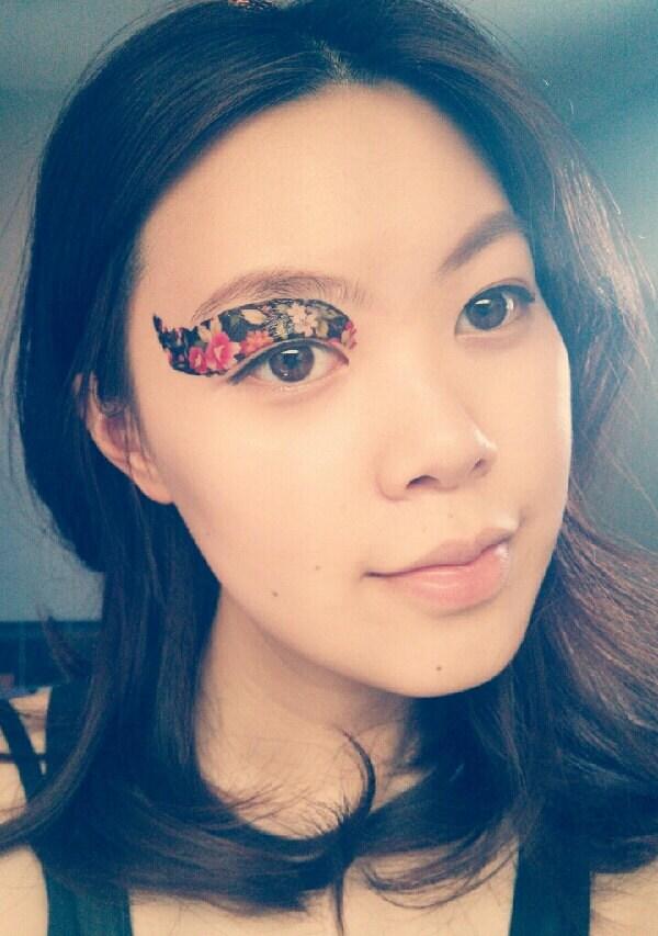 1 pair fake eye temporary tattoo makeup eyeshadow by cclstore for Eye temporary tattoo makeup