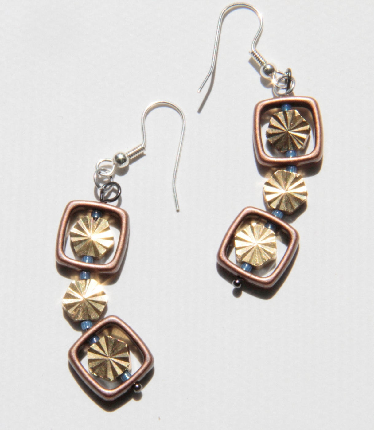 Brassy Window Earrings
