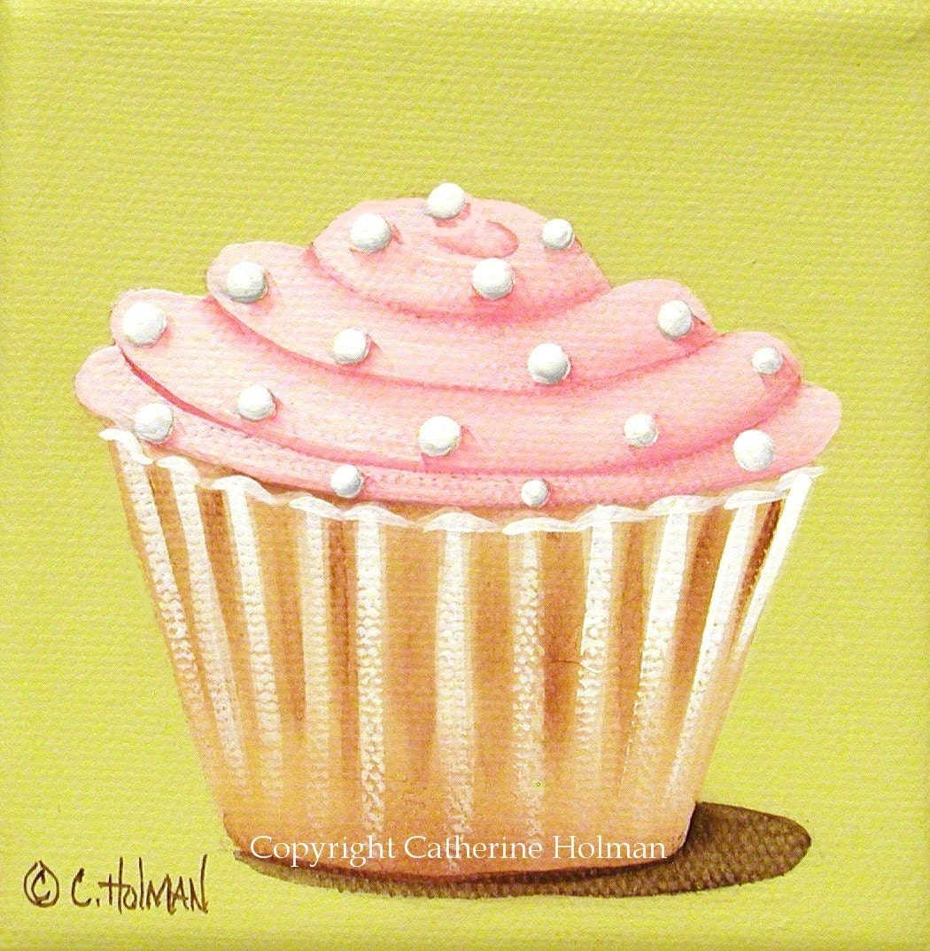 Pink Fluff Cupcake Print