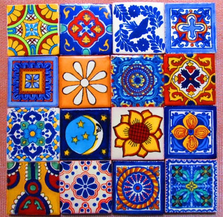 Six Pcs Mexican Tile Talavera Handmade By Begamexicansupplies