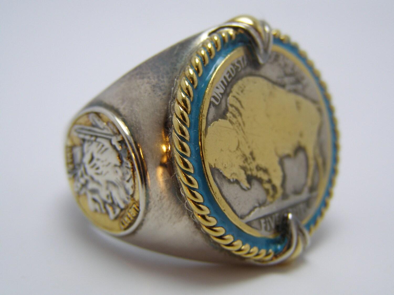 Indian Head Nickel Honoring The American West Ring
