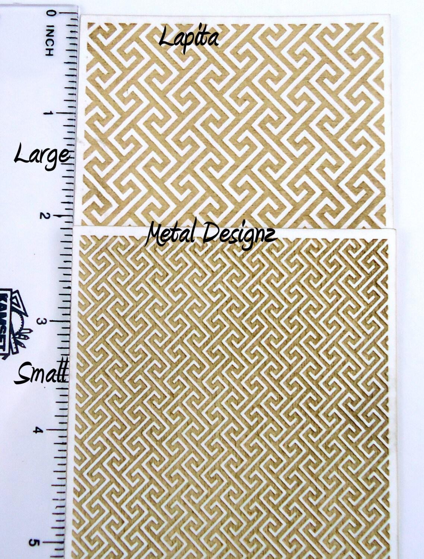 Laser Cut Texture Paper Rolling Mill Pattern By Metaldesignz