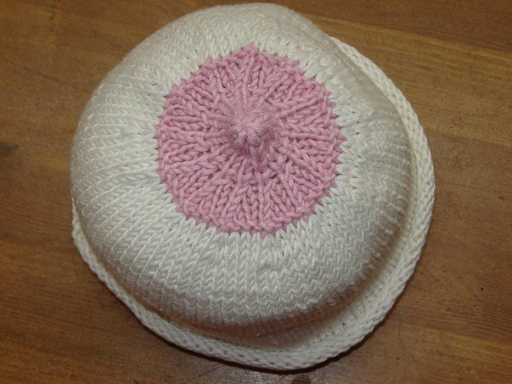 Knitting Pattern Nipple Hat : The Nipple Hat in all sizes-breast cancer by giaknits on Etsy