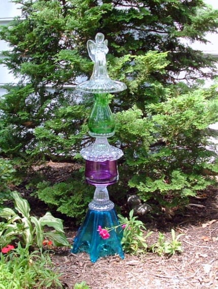 re creations in glass garden angel guide to recycled glass garden art - Glass Garden Art