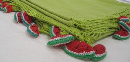 Tablecloth- rectangle- green (watermelon detail)