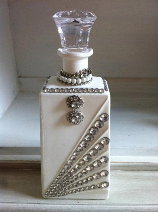 Vintage Bottle Vintage Decor Glass Bottle Upcycled By Sistafriends