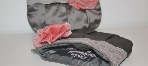 Bridesmaid Clutch Purse  Personalized Bridesmaid Clutch  Silk Taffeta Clutch Purse  Custom Clutch Purses  Bridal Bag  Bridesmaid Gift